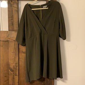 Green kimono sleeve dress